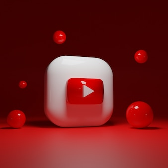 3d youtube-logo-applicatie