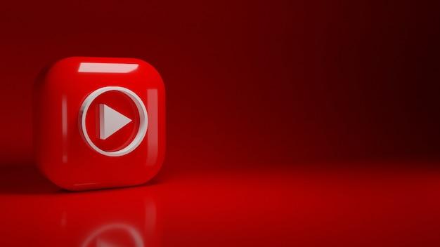3d youtube muziek applicatie-logo