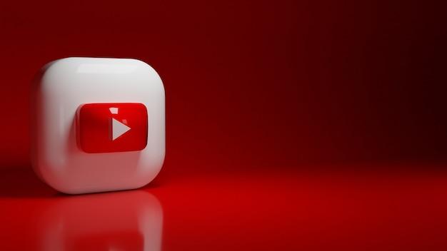 3d youtube-toepassingslogo Premium Foto