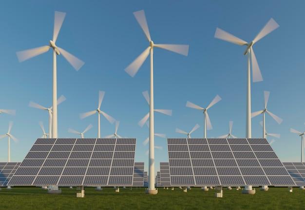 3d-zonnepanelenproject voor energiebesparing