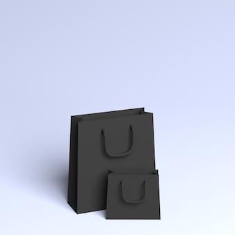 3d-zwarte zakken met kleurovergang kopie ruimte