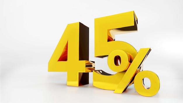 45% gouden symbool