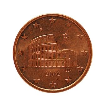 5 cent munt, europese unie geïsoleerd over white