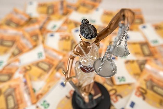 50 euro rekeningen als achtergrond. financiën
