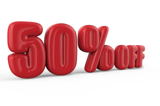 50% korting op tekst