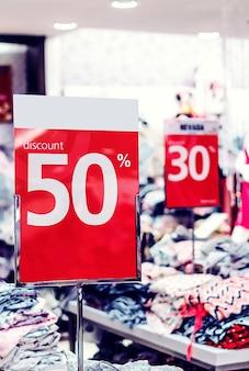 50 procent korting verkoop c
