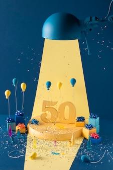50e verjaardag feestelijk arrangement met ballonnen