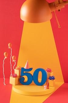 50ste verjaardagsarrangement met feestelijke versieringen