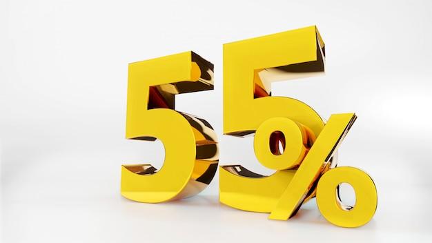 55% gouden symbool
