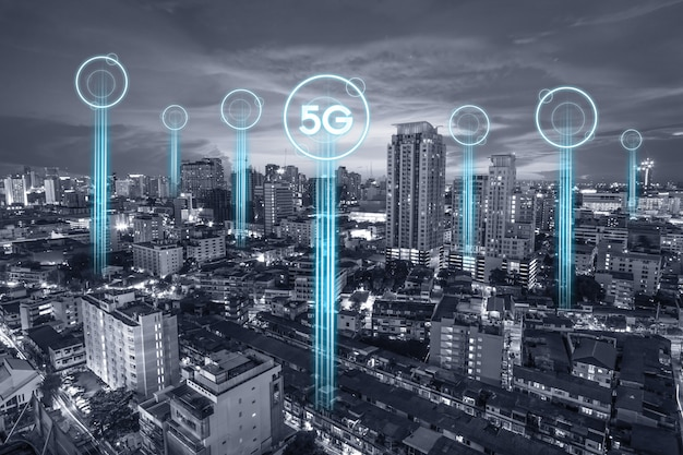5g communicatienetwerkverbinding voor internet