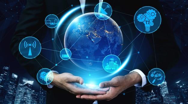 5g-communicatietechnologie draadloos internetnetwerk voor wereldwijde bedrijven