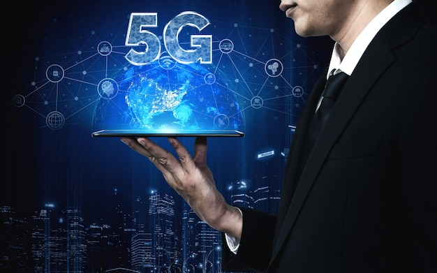 5g communicatietechnologie van internetnetwerk
