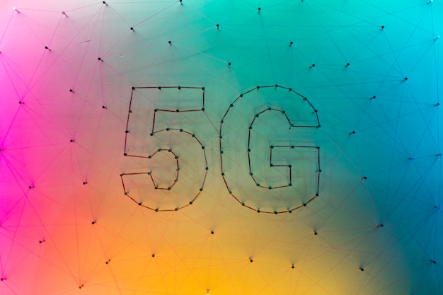 5g data technologie achtergrond met kleurverloop