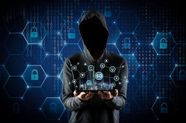 5g netwerk draadloos systeem en internet der dingen contact met mensen