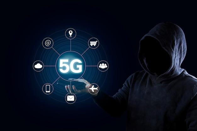 5g netwerk internet mobiel draadloos bedrijfsconcept