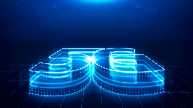 5g-technologie, snelheidstechnologie, communicatienetwerkconcept.