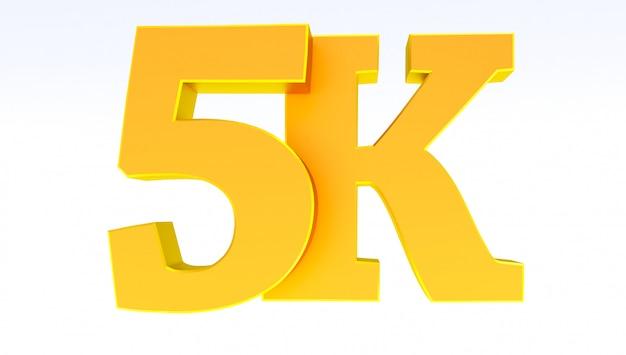 5k of 5000 volgers bedankt.