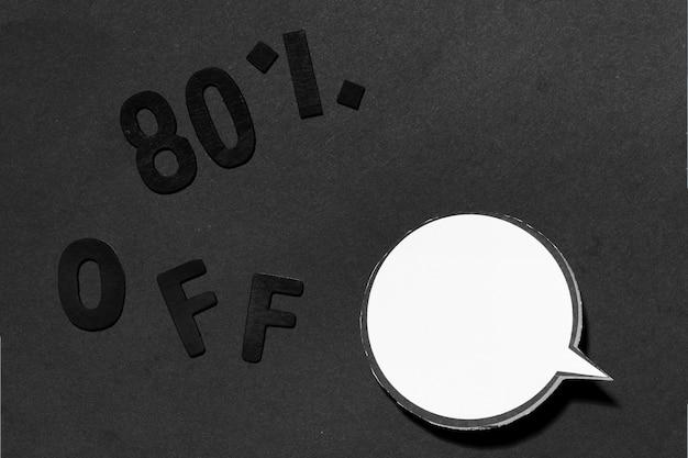 80% kortingsaanbieding en gesprekswolk