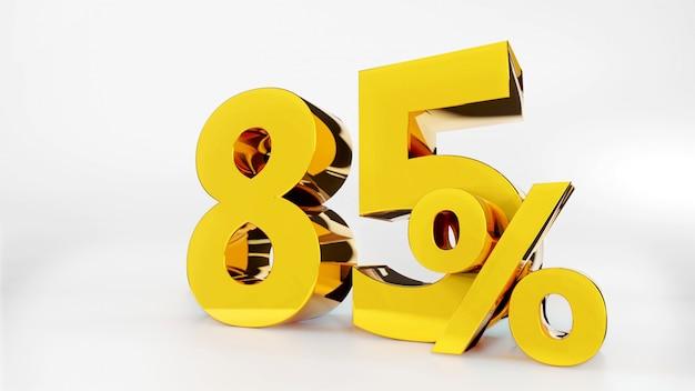 85% gouden symbool