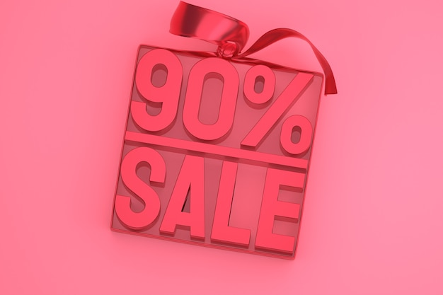 90% verkoop 3d-tag in doos met lint en strik op roze
