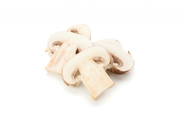 à â¡hampignon champignons geïsoleerd op wit, close-up
