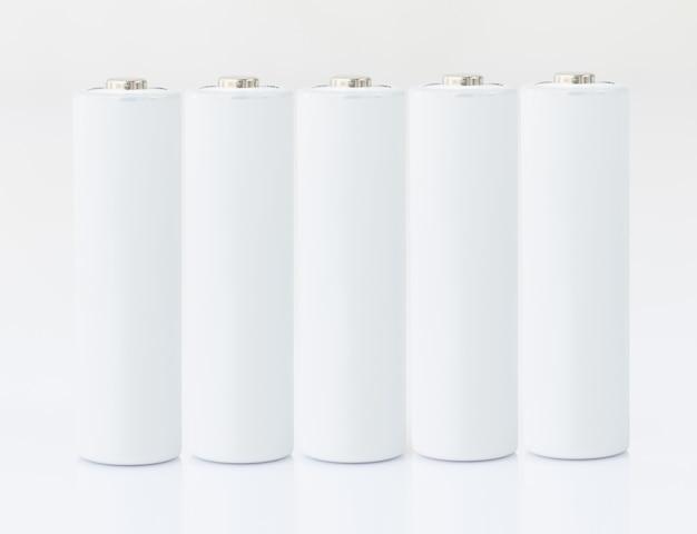 Aa-batterijen wit