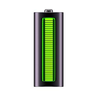 Aa-de batterij op wit wordt geïsoleerd die, 3d, geeft terug