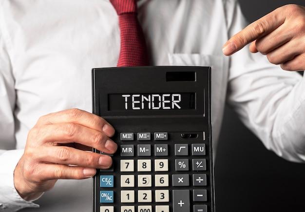 Aanbestedingswoord over het openbare aanbiedingsconcept van het rekenmachinebedrijf