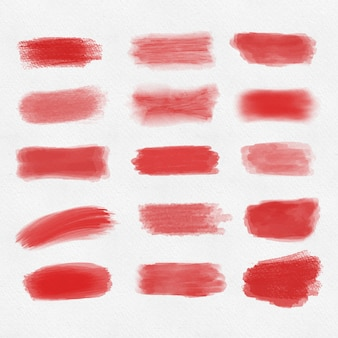 Aantal rode penseelstreken