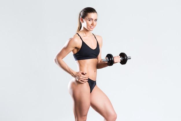 Aantrekkelijke fitness vrouw.