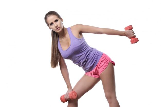 Aantrekkelijke geïsoleerde atletenvrouw