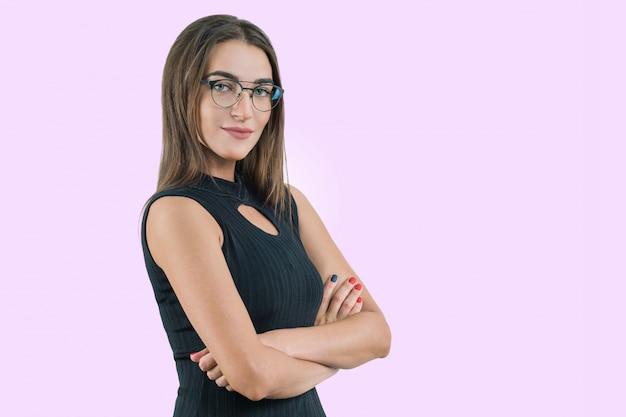 Aantrekkelijke vrouwelijke zakenvrouw