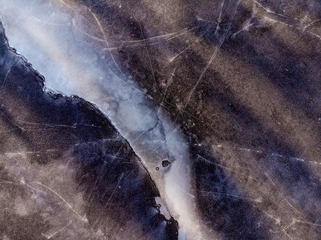 Aardachtergrond van bergen met ijs