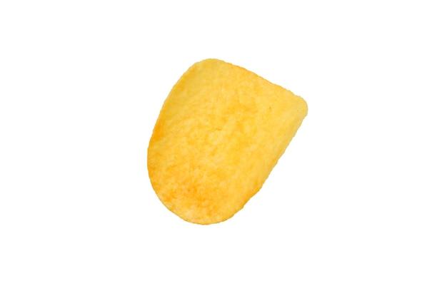 Aardappelchips geïsoleerd op een witte achtergrond.
