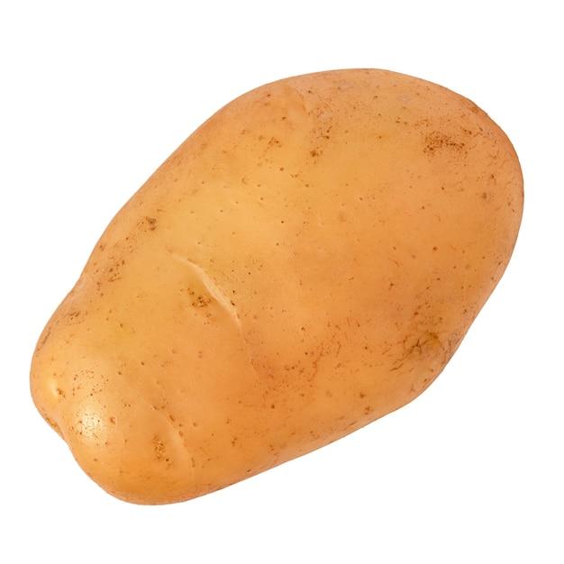 Aardappelen close-up geïsoleerd. groente op witte achtergrond.