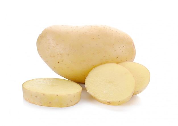 Aardappelen slice geïsoleerd