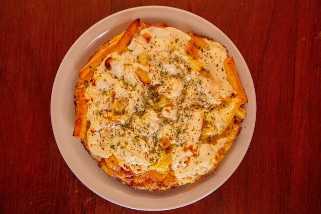 Aardappelomelet met gegratineerde kaas