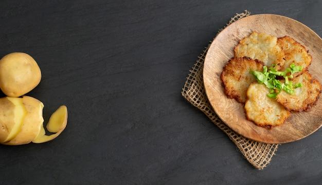Aardappelpannenkoekjes, draniki, deruny, aardappel latkes of boxties