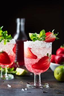 Aardbei cocktail