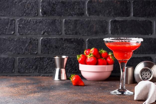 Aardbei margarita cocktail in glas