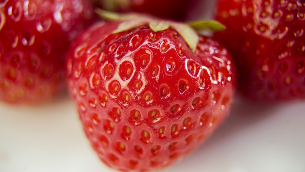 Aardbeien close-up plan