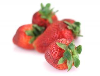 Aardbeien, geïsoleerde