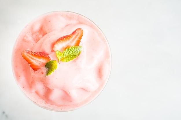 Aardbeien smoothies