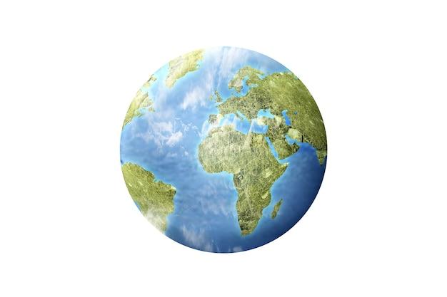 Aarde geïsoleerd