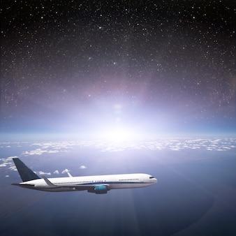 Aarde. uitzicht vanaf vliegtuig.