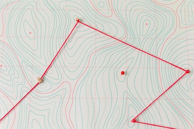 Aardrijkskunde onderwerp arrangement met kaart