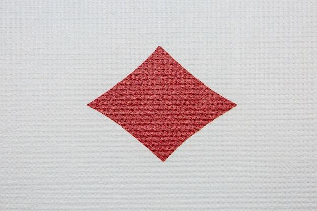 Aas van diamanten detail. poker casino speelkaarten