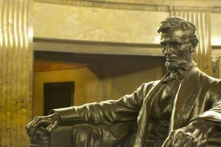Abraham lincoln sculptuur
