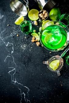 Absinth en wodka martini