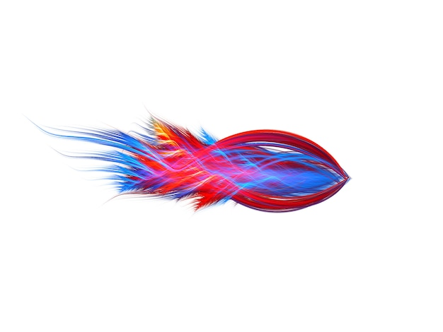 Abstract beeld van een vis op wit
